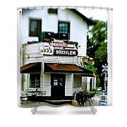 Bud's Broiler - Frame Shower Curtain