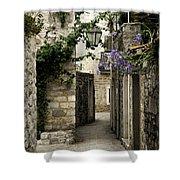 Budva Old Town Street Montenegro Shower Curtain