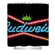 Budweiser 2 Shower Curtain