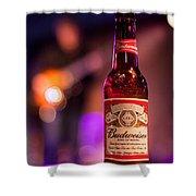 Budweiser Blues Shower Curtain