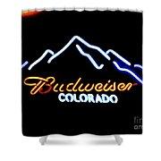 Budweiser In Colorado Shower Curtain