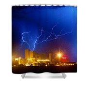 Budweiser Power Shower Curtain