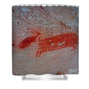 Buffalo And Elk Cave Painting Shower Curtain