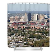 Buffalo And Niagara Falls Skylines Shower Curtain