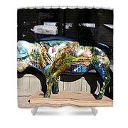 Buffalo Art Shower Curtain