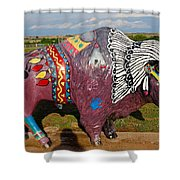 Buffalo Artwork Shower Curtain