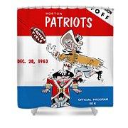 Buffalo Bills 1963 Playoff Program Shower Curtain