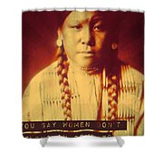Buffalo Calf Road Woman Shower Curtain