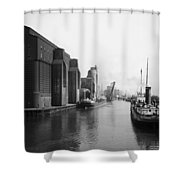 Buffalo Canal Harbor Shower Curtain