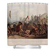 Buffalo Dance Of The Mandan Indians Shower Curtain