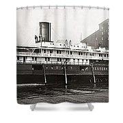 Buffalo Docks, C1909 Shower Curtain