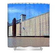 Buffalo Grain Mill Shower Curtain