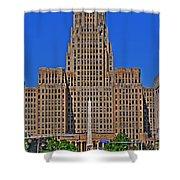 Buffalo Marathon 2013 City Hall View  Shower Curtain