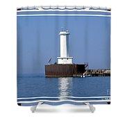 Buffalo New York Outer Breakwater Lighthouse Shower Curtain