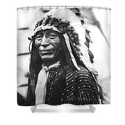 Buffalo Nickel Portrait Shower Curtain by Underwood Archives