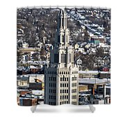 Buffalo Ny Electric Building Winter 2013 Shower Curtain