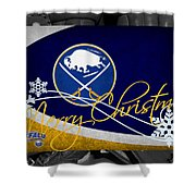 Buffalo Sabres Christmas Shower Curtain
