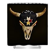 Buffalo Skull Shower Curtain
