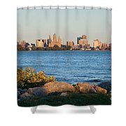 Buffalo Skyline From Fort Erie Shower Curtain