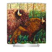 Buffaloes Shower Curtain