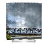 Buffalo's Ohio Street Bridge Shower Curtain