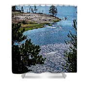 Buffs On River Shower Curtain
