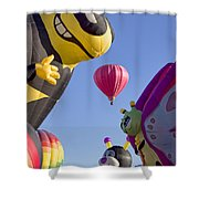 Bug Balloons Waiting To Fly Shower Curtain