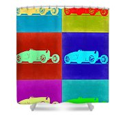 Bugatti Type 35 R Pop Art 2 Shower Curtain by Naxart Studio