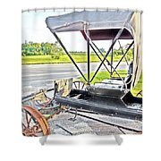 Buggy By The Road Shower Curtain