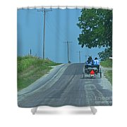 Buggy Ride Shower Curtain