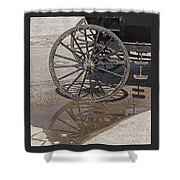 Buggy Wheels Shower Curtain