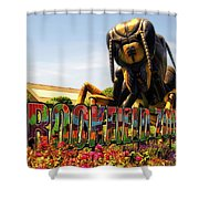 Bugs At Brookfield Zoo Signage Shower Curtain