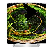 Bugs At The Zoo Grasshopper Shower Curtain