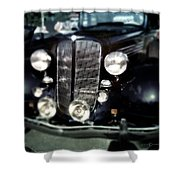 Buick At The Car Show Shower Curtain