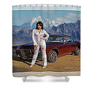 Buick Riviera Lowrider Shower Curtain