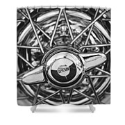 Buick Skylark Wheel Black And White Shower Curtain