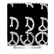 Build Up Peace Shower Curtain