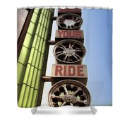 Build Your Ride Signage Downtown Disneyland 01 Shower Curtain