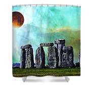 Building A Mystery 2 - Stonehenge Art By Sharon Cummings Shower Curtain