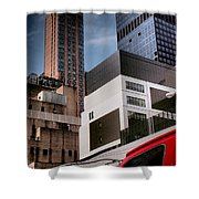 Tribute To Leger 3 - Building Blocks - Architecture Of New York City Shower Curtain