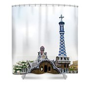 Building By Antoni Gaudi Shower Curtain