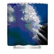 Building Cumulus Abstract Shower Curtain