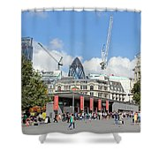 Building Work In The City Of London Shower Curtain