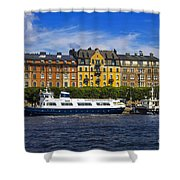 Buildings And Boats Shower Curtain