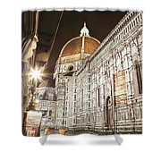 Buildings And Florence Cathedral Shower Curtain by Alexander Macfarlane