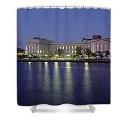 Buildings At The Waterfront, Cape Fear Shower Curtain