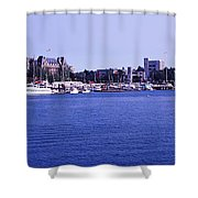 Buildings At The Waterfront, Inner Shower Curtain