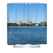 Buildings At The Waterfront, Kempenfelt Shower Curtain