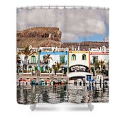 Buildings At The Waterfront, Puerto De Shower Curtain