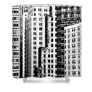 Buildings Bw Shower Curtain